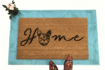 HOME French Bulldog doormat Frenchie