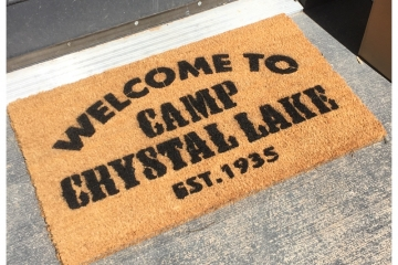 Camp Crystal Lake Friday the 13th doormat