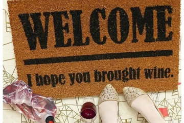 WINE lover, beer,weed, cake, taco, tacos, vodka... funny doormat