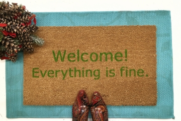 Welcome! Everything is fine. doormat