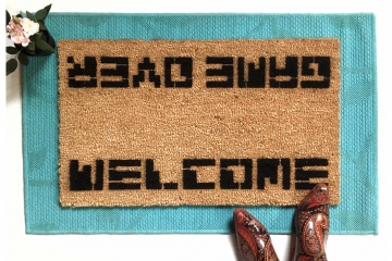 WELCOME / GAME OVER Atari doormat