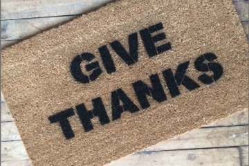 Give Thanks Thanksgiving Turkey Day holiday doormat