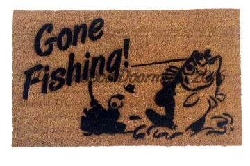 Gone Fishing Lake Beach house retirement gift doormat