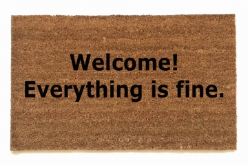 Welcome! Everything is fine. The Good Place