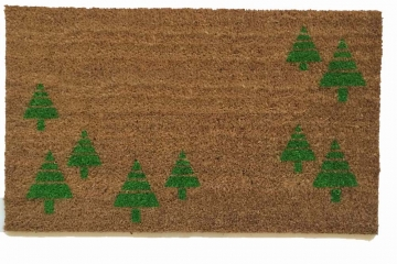 Green trees doormat