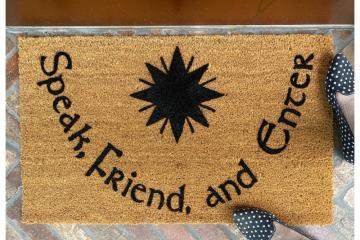 JRR Tolkien Speak Friend and Enter Star Feanor doormat