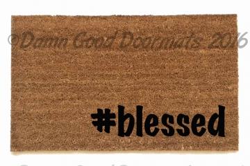 # blessed hashtag doormat