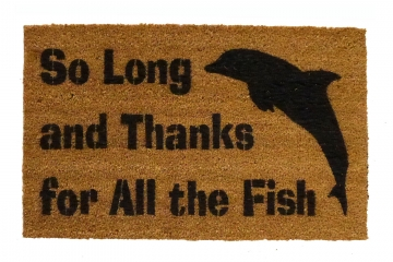 So Long Dolphin Hitchhiker's Guide doormat