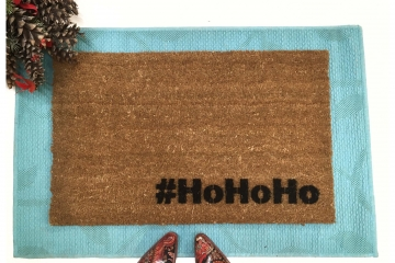 #HoHoHo Funny Christmas Santa doormat