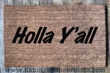 HOLLA Y'all country doormat