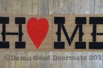 double wide Country home heart doormat