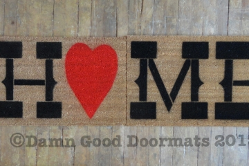 double wide Country home heart doormat