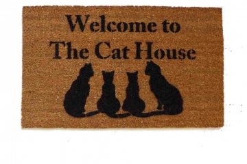 Cat House- cat lover doormat