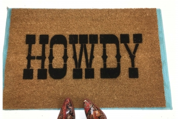Howdy Texas A&M Aggie welcome doormat