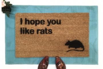 I hope you like rats doormat