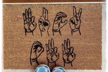 Fuck Off ASL American Sign Language doormat