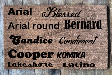 Custom Name doormat