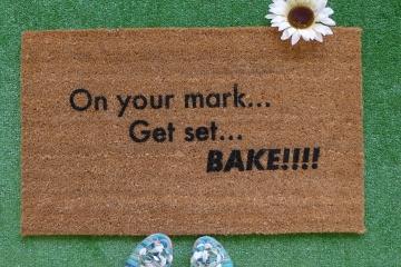 On your mark , Set, bake! Great British Bake off