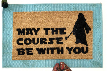 Nerdy Golfer May the course be with you Star Wars doormat