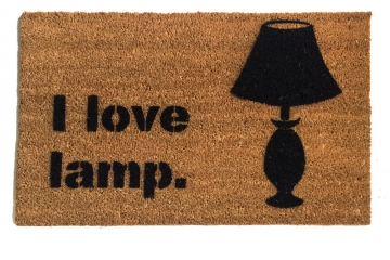 I love lamp, funny Anchorman doormat