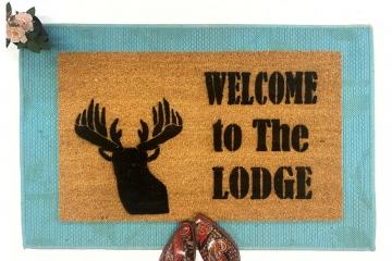 Lodge Deer head doormat