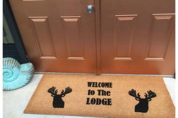 Doublewide XL Lodge Deer head doormat