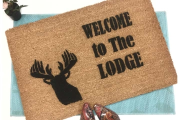 Lodge Deer head doormat