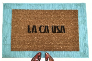 LA CA USA- Los Angeles City of Angels doormat