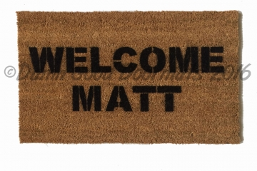 Welcome Matt welcome mat  doormat
