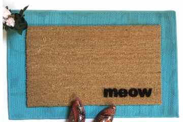 meow cat lover doormat