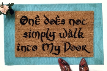 Walk into MY DOOR MORDOR, funny JRR Tolkien nerd doormat