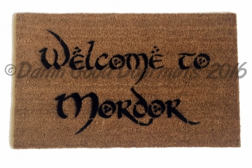 Welcome to MORDOR JRR Tolkien nerd doormat