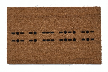 Morse code Knock knock Escape room nerdy doormat