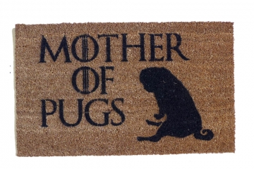 Mother of PUGS Game of Thrones dog doormat