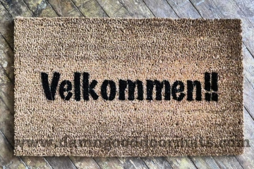 Velkommen!! It's Norwegian AND Danish for Welcome