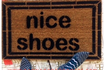 TWO LINES nice shoes. doormat