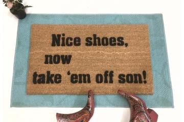 Nice shoes SON doormat