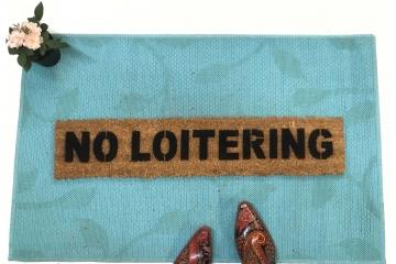 NO LOITERING doormat