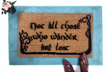 JRR Tolkien nerd doormat Not all those who wander are lost with TREES