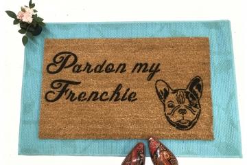 Pardon my Frenchie! French Bulldog doormat