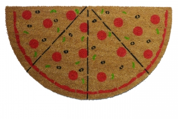 Ultimate PIZZA Lovers pepperoni doormat