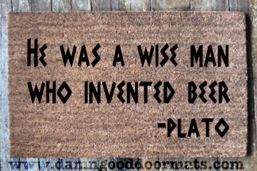Plato- BEER doormat