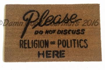 No politics doormat