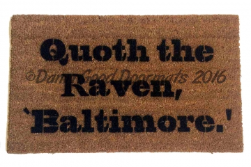 Baltimore Ravens Baseball Poe quoth the raven doormat