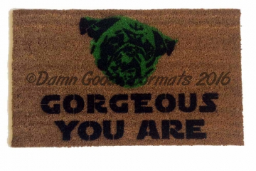 PUG Yoda Gorgeous Star Wars doormat