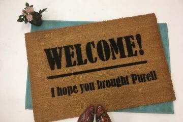 PURELL! No Covid 19!  doormat