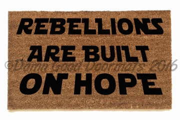 Star Wars Rebellions are Built on Hope resist nerd doormat