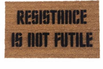 Star Trek Borg Resistance is NOT futile nerd doormat