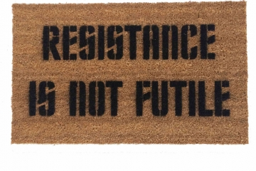 Star Trek Borg Resistance is NOT futile nerd doormat