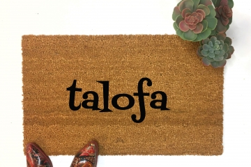 Custom for tia_mama3  Samoan talofa doormat